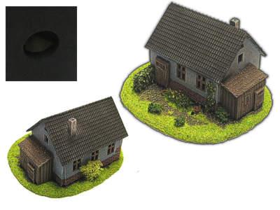 Haus mit Anbau für H0/TT