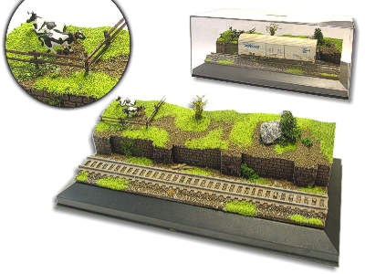 Diorama Weide für H0/TT