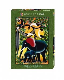 Tinga Elephant Family by Tinga Tinga 1000 Teile