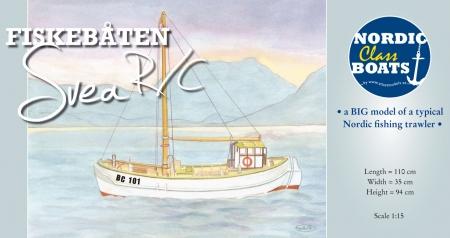 Svea - kleines nordisches Fischerboot 1:15