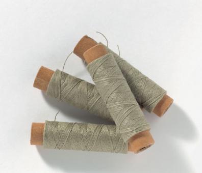 Baumwollfaden ungebleicht 2 Rollen 0,15mm x 25m