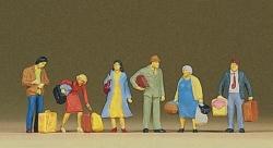 Wartende Reisende
