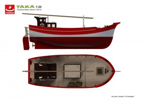 Taka Fischerboot schwarzes Meer 1:20