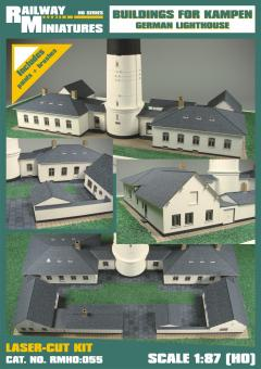 Buildings for Kampen Lighthouse scale 1:87 (H0)